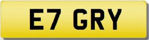 GARY GREY GRAY GERRY GREG GREGORY ET GRY GAZ Cherished Registration Number Plate